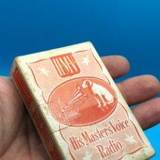 Barajas de cartas: ÚNICA Y RARA BARAJA CARTAS NAIPES WHIST~HMV~HIS MASTER'S VOICE RADIO~LA VOZ DE SU AMO. Lote 204840305