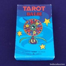 Barajas de cartas: BARAJA TAROT FOURNIER. TAROT BALBI. CON INSTRUCCIONES. SIN USAR. 1978.. Lote 205015296