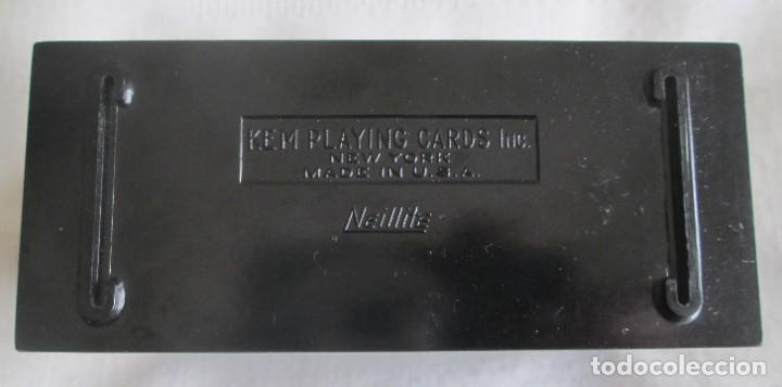 Barajas de cartas: KEM Playing Cards, antigua caja para guardar barajas en baquelita. New York, U.S.A. - Foto 2 - 205092928