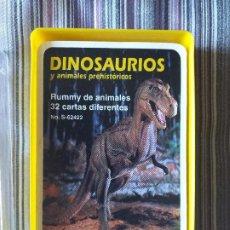 Baralhos de cartas: BARAJA DE CARTAS DINOSAURIOS Y ANIMALES PREHISTÓRICOS, ED- SAFARI LIMITED, COMPLETA. Lote 205119371