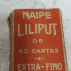 Barajas de cartas: PEQUEÑA BARAJA DE CARTAS FOURNIER Y ANTIGUA. Lote 205232655