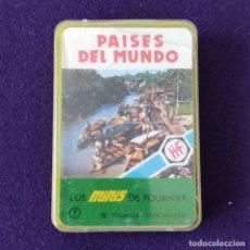 Barajas de cartas: BARAJA INFANTIL. LOS MINIS DE FOURNIER. PAISES DEL MUNDO. SIN USAR. COMPLETA. 1978. Lote 205277408