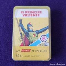 Barajas de cartas: BARAJA INFANTIL. LOS MINIS DE FOURNIER. EL PRINCIPE VALIENTE. SIN USAR. COMPLETA. 1978. Lote 205277505