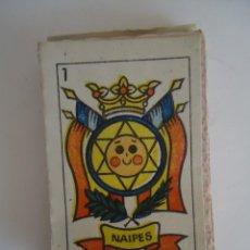 Barajas de cartas: ANTIGUA BARAJA PEQUEÑA SIN RECORTAR ESPAÑOLA. --- 6. Lote 205350982