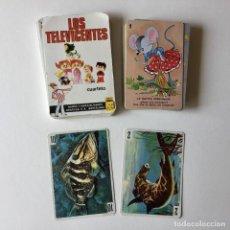 Barajas de cartas: LOTE BARAJA DE CARTAS - LOS TELEVICENTES - 7 CUENTOS INFANTILES - 2 CARTAS DE LA BARAJA VIDA Y COLOR. Lote 205372106