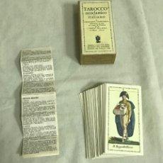 Barajas de cartas: TAROT COLECCIÓN TAROCCO NEOCLÁSSICO ITALIANO. EDICIÓN LIMITADA Nº410/999. A ESTRENAR. Lote 205372345