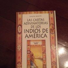 Barajas de cartas: CARTAS TAROT ADIVINATORIAS DESCATALOGADAS DE LOS INDIOS DE AMÉRICA. Lote 205383513