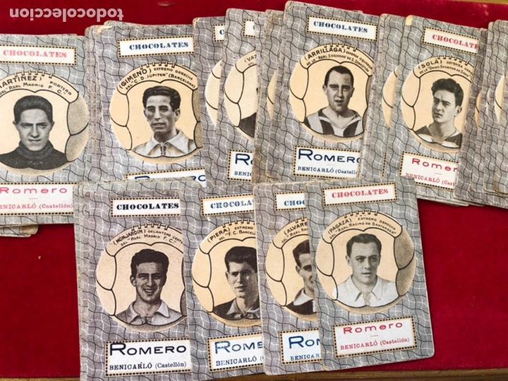 BARAJA DE CARTAS DE CHOCOLATES ROMERO BENICARLÓ 1950'S- REVERSO JUGADORES FUTBOL (COMPLETA) (Juguetes y Juegos - Cartas y Naipes - Baraja Española)