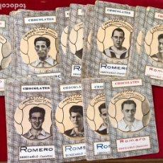 Barajas de cartas: BARAJA DE CARTAS DE CHOCOLATES ROMERO BENICARLÓ 1950'S- REVERSO JUGADORES FUTBOL (COMPLETA). Lote 205585318