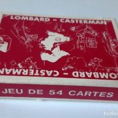 Barajas de cartas: TINTIN - BARAJA FRANCESA - LOMBARD / CASTERMAN - NUEVAS. Lote 205598378