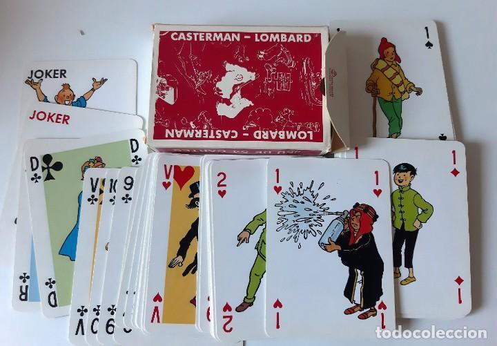 Barajas de cartas: TINTIN - BARAJA FRANCESA - LOMBARD / CASTERMAN - NUEVAS - Foto 2 - 205598378