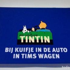 Barajas de cartas: TINTIN - DOS JUEGOS DE CARTAS - ESTUCHE AZUL. Lote 205604185