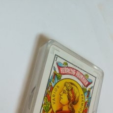 Barajas de cartas: BARAJA HERACLIO FOURNIER VITORIA PUBLICIDAD CERVEZAS PARTE TRASERA. Lote 205609272