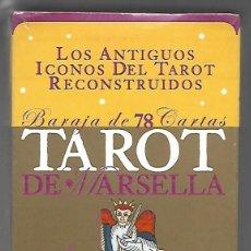 Barajas de cartas: TAROT DE MARSELLA, BARAJA 78 CARTAS. LOS ANTIGUOS ICONOS DEL TAROT RECONSTRUIDO, LE-MAT, PRECINTADO.. Lote 205704758