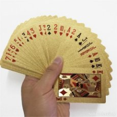 Jeux de cartes: JUEGO DE NAIPES, BARAJA DE PÓKER. DORADA.. Lote 205735855