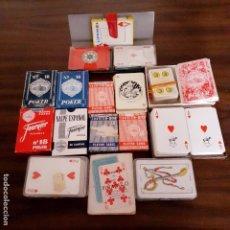 Barajas de cartas: LOTE DE BARAJAS DE NAIPES CARTAS POKER Y BARAJA ESPAÑOLA FOURNIER SON DE LOS AÑOS 70 U 80 LA MAYORÍA. Lote 205825540