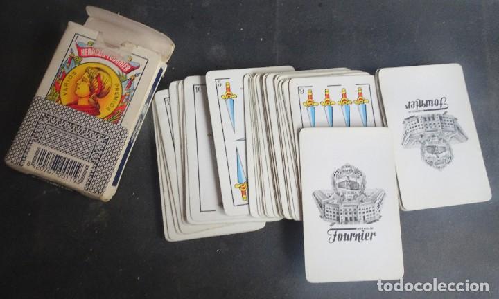 Barajas de cartas: ANTIGUA BARAJA DE NAIPES OPACO MARFIL, Nº1 50 CARTAS, FOURNIER , VER FOTOS - Foto 2 - 205832613
