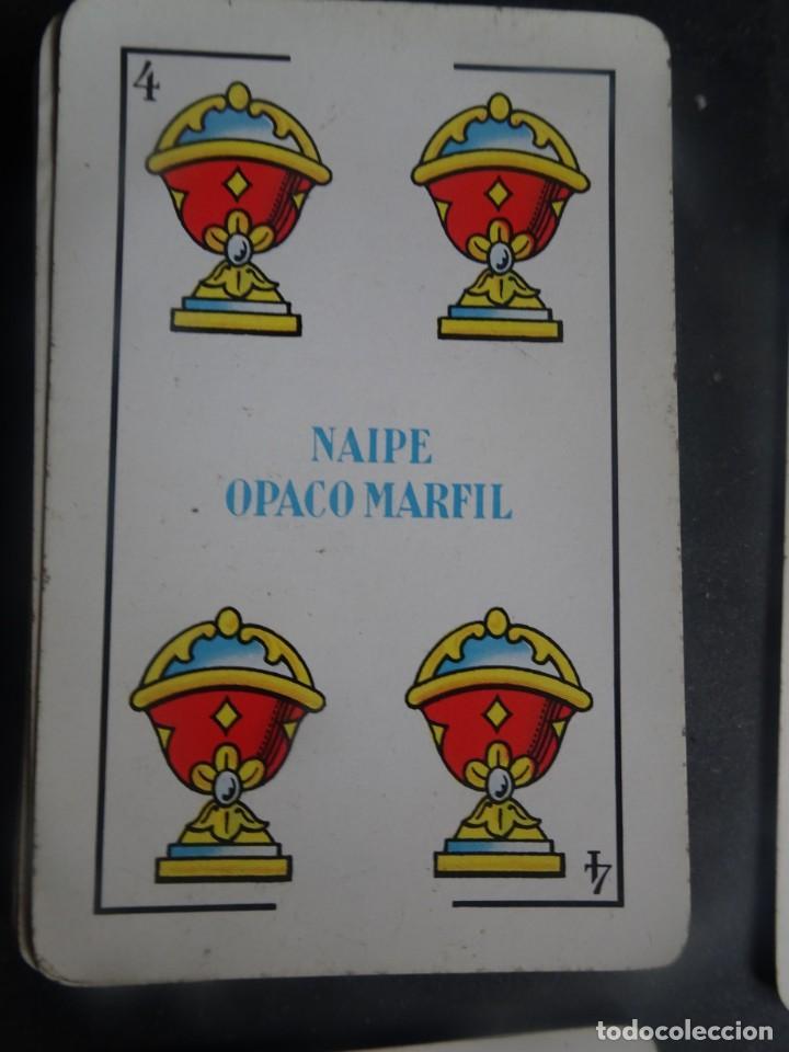 Barajas de cartas: ANTIGUA BARAJA DE NAIPES OPACO MARFIL, Nº1 50 CARTAS, FOURNIER , VER FOTOS - Foto 3 - 205832613