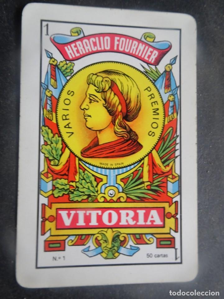 Barajas de cartas: ANTIGUA BARAJA DE NAIPES OPACO MARFIL, Nº1 50 CARTAS, FOURNIER , VER FOTOS - Foto 6 - 205832613