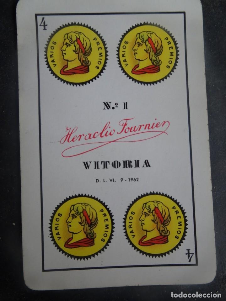 Barajas de cartas: ANTIGUA BARAJA DE NAIPES OPACO MARFIL, Nº1 50 CARTAS, FOURNIER , VER FOTOS - Foto 8 - 205832613