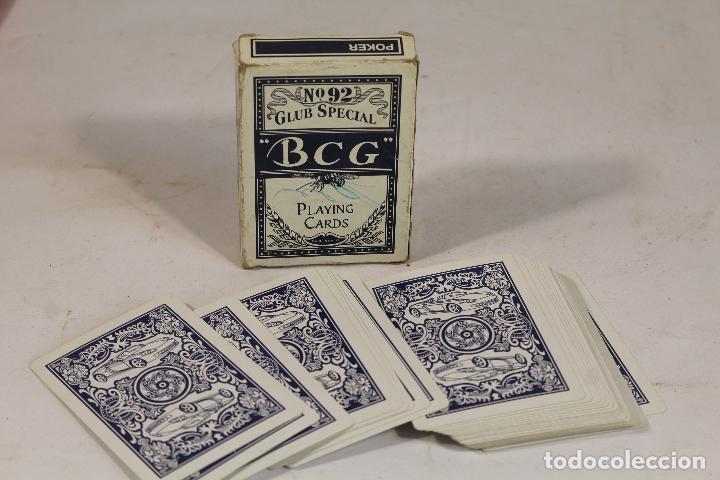 Barajas de cartas: BARAJA PÓKER / CLUB SPECIAL BCG Nº 92. PLAYING CARDS - DORSO AZUL. - Foto 3 - 206196085