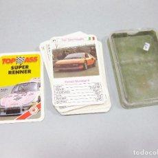 Mazzi di carte: BARAJA COMPLETA DE CARTAS DE AUTOMÓVILES DE CARRERAS - TOP ASS - SUPER RENNER. Lote 206360437