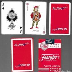 Barajas de cartas: BARAJA DE POKER REVERSO PUBLICITARIO DE ALAVA + ACTIVE. PRECINTADA. 2 JOKER'S + 1 EXTRA.. Lote 206381915