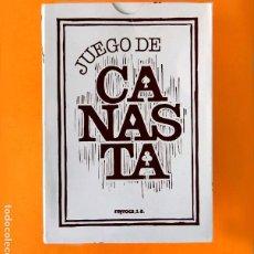 Baralhos de cartas: JUEGO DE CANASTA, MINGOTE - EN ESTUCHE, CON DOS BARAJAS, NAIPE BRIDGE - FOURNIER, NUEVO, MYR. Lote 206525592