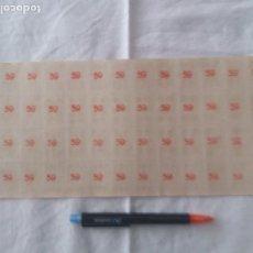 Barajas de cartas: ANTIGUA BARAJA EN PLANCHA PARA RECORTAR, NUMERO EN EL REVERSO PARA RIFA. (59). Lote 206539702