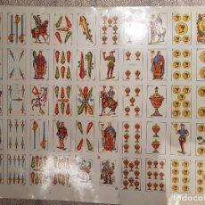 Barajas de cartas: NAIPES - PRUEBAS DE IMPRESIÓN NAIPES COMAS - BARAJA DE POKER Y ESPAÑOLA. Lote 206576812