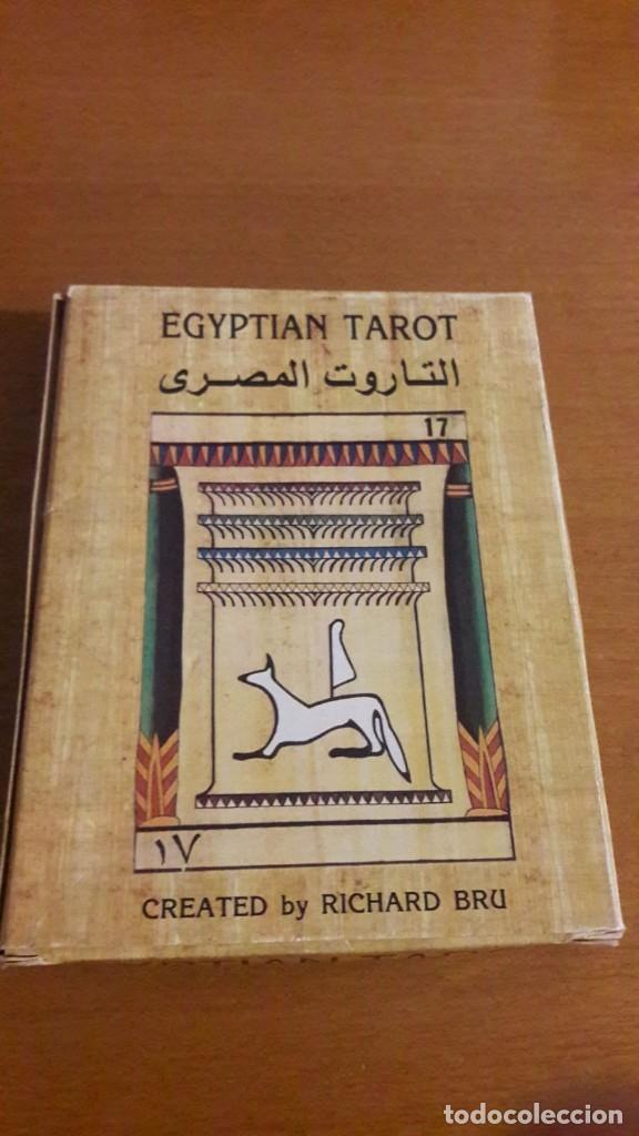 TAROT EGIPCIO RARO CREADO POR RICHARD BRU (Juguetes y Juegos - Cartas y Naipes - Barajas Tarot)