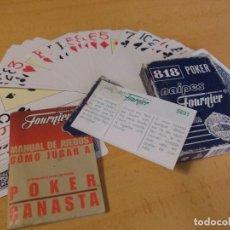 Barajas de cartas: BARAJA POKER 818 FOURNIER + MANUAL DE INTRUCCIONES JUEGO CANASTA. Lote 207007451