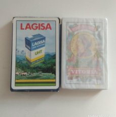 Barajas de cartas: BARAJA DE CARTAS HERACLIO FOURNIER PUBLICIDAD LECHE LAGISA 40 CARTAS SIN USAR PRECINTADA NAIPES. Lote 207111205
