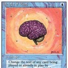 Barajas de cartas: CARTA MTG MAGIC ENCUENTRO GATHERING SLEIGHT OF MIND INGLÉS EDICIÓN REVISED CUARTA 1994 RARA. Lote 207129172