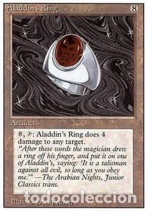 Barajas de cartas: Carta MTG Magic Encuentro Gathering Aladdin´s Ring inglés edición revised cuarta 1994 rara - Foto 1 - 207129632