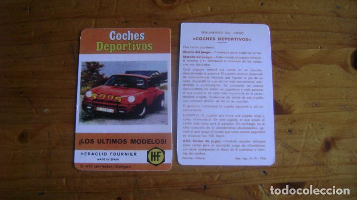 BARAJA FOURNIER COCHES DEPORTIVOS CARTA DE PRESENTACION SEGUNDA VERSION VER FOTOS (Juguetes y Juegos - Cartas y Naipes - Barajas Infantiles)