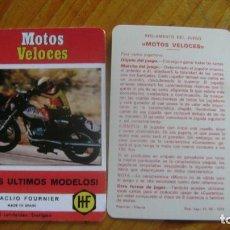 Barajas de cartas: MOTOS VELOCES CARTA DE PRESENTACION SEGUNDA VERSION VER FOTOS. Lote 207129780