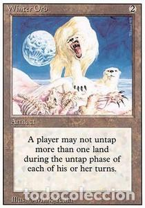 Barajas de cartas: Carta MTG Magic Encuentro Gathering Winter Orb inglés edición revised 1994 rara - Foto 1 - 207130205