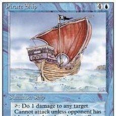Barajas de cartas: CARTA MTG MAGIC ENCUENTRO GATHERING PIRATE SHIP INGLÉS EDICIÓN REVISED CUARTA 1994 RARA. Lote 207131447
