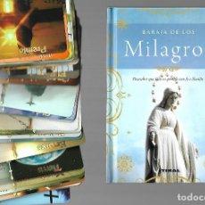 Barajas de cartas: BARAJA DE LOS MILAGROS EN SU CAJA CON LIBRO EXPLICATIVO. . NUEVA. TIKAL. 40 CARTAS.. Lote 207284480