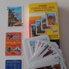 Barajas de cartas: BARAJA EN ESTUCHE COSTA DEL SOL - ANDALUCIA. TIMBRE ROJO AÑOS 60, NUEVA, SIN USAR.. Lote 207285900