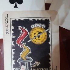 Barajas de cartas: BARAJA DE NAIPES COMPLETA GIGANTE IX CONGRESO MÁGICO DE LA FISM 32 X 44,5 CEDAM SEI MAGIA. Lote 207439256