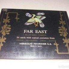 Mazzi di carte: ESTUCHE CON DOS BARAJAS FAR EAST, LEJANO ORIENTE, CHINA, INDONESIA, JAPON, INDIA. FOURNIER.. Lote 279734873