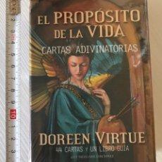 Barajas de cartas: BARAJA DEL TAROT EL PROPÓSITO DE LA VIDA ,CONTIENE LIBRO EXPLICATIVO. Lote 207488437