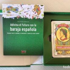 Barajas de cartas: ADIVINA EL FUTURO CON LA BARAJA ESPAÑOLA CONTIENE LIBRO EXPLICATIVO. Lote 207592955
