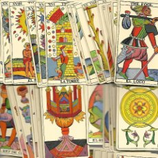 Barajas de cartas: ANTIGUA BARAJA DEL TAROT DE ESPAÑOL COMPLETA 80 CARTAS PERFECTO ESTADO. Lote 207716680