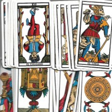 Jeux de cartes: ANTIGUA BARAJA DEL TAROT DE MARSELLA CON LIBRITO 76 CARTAS PERFECTO ESTADO. Lote 207718747