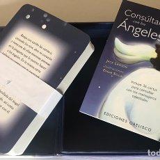 Barajas de cartas: BARAJA DEL TAROT CONSÚLTALO CON LOS ANGELES CONTIENE LIBRO EXPLICATIVO. Lote 207744638