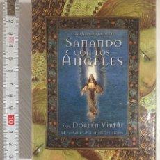 Barajas de cartas: BARAJA DEL TAROT SANANDO CON LOS ÁNGELES CONTIENE LIBRO EXPLICATIVO. Lote 207849306