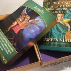 Barajas de cartas: BARAJA DEL TAROT EL PROPÓSITO DE LA VIDA CONTIENE LIBRO EXPLICATIVO. Lote 207849565